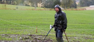 Asgeir Pettersen koste seg i gjørma (Foto: Per Sibe)