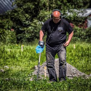 Artikkelforfatter Ulf i bra sig på Gokstad (Foto:Per Sibe)