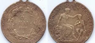 17.mai medalje 1916. Funnet av Kjell Gunnar Lien (Foto: K.G Lien
