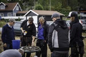 Erik R. Johansen (til venstre i bildet) med full kontroll (Foto: Per Sibe)