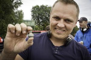 Kristian Simonsen med sitt flotte vektlodd (Foto:Per Sibe)