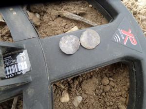 Noen mynter ble det også (Foto: Ole Chr. Fjeld)