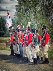 I tidsriktige uniformer (Foto: Per Sibe)