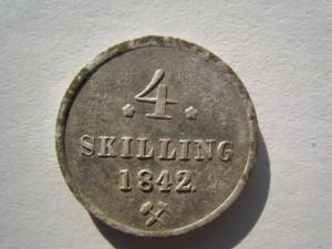 Sølvmynt (Foto: Trond Gåsland)